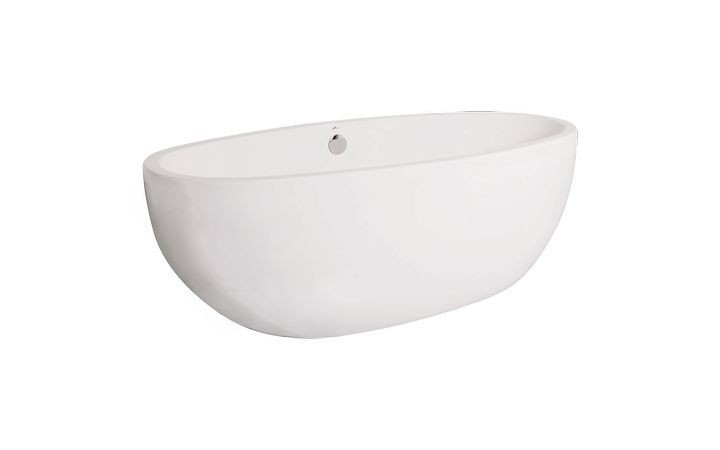 AMERICH CO7240T2 CONTURA II 72 INCH X 40 INCH FREESTANDING SOAKER BATHTUB WITH INTEGRAL WASTE AND OVERFLOW