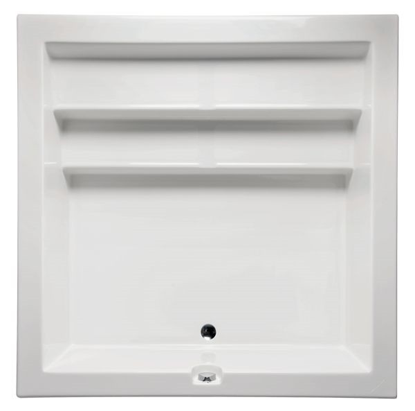 AMERICH KY6868T KYOTO 68 INCH SQUARE SOAKER BATHTUB WITH BUILD-IN MOLDED SEATS