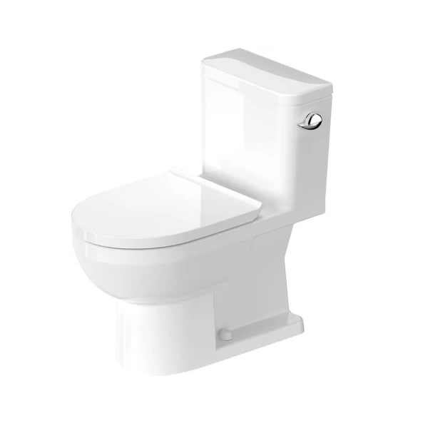 Duravit 21950120u3 Durastyle Basic 14 3 8 X 28 1 8 Inch One Piece Rimless Toilet With Syphonic Flush Left Side Lever