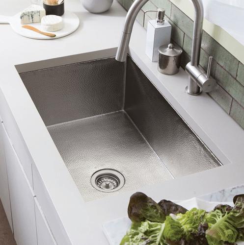 Native Trails CPK93 Cocina 30 Inch Single Basin Hand Hammered Undermount Copper Kitchen Sink