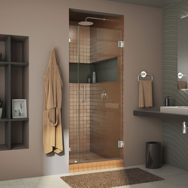 DREAMLINE SHDR-23357210 UNIDOOR LUX 35 W X 72 H FULLY FRAMELESS HINGED SHOWER DOOR