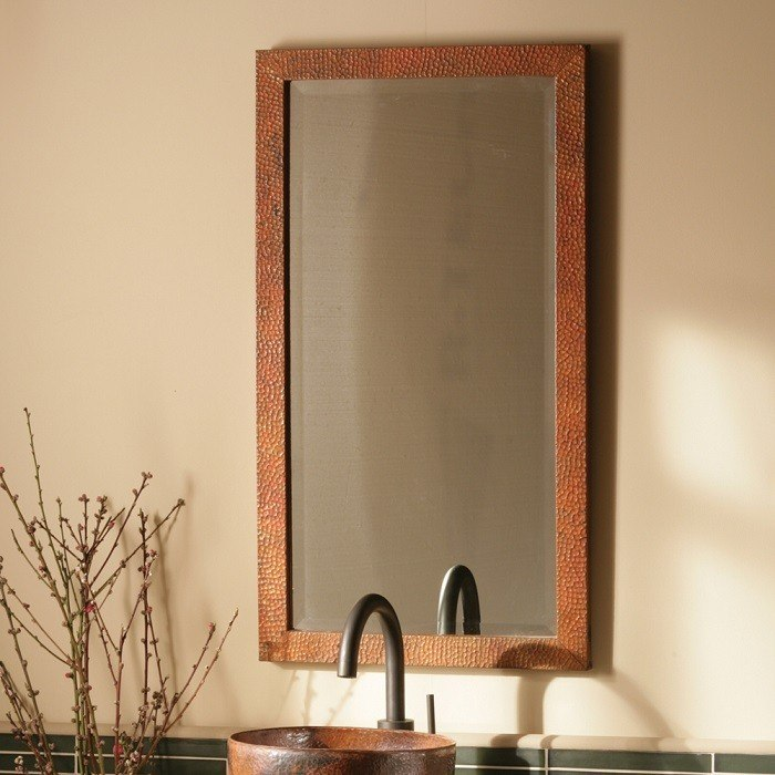Native Trails CPM94 Milano 20 x 36 Inch Rectangle Hand Hammered Copper Mirror
