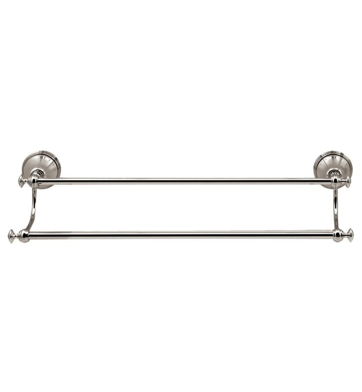 AQUABRASS ABAB00405 SERIE 400 20 1/8 INCH WALL MOUNT DOUBLE TOWEL BAR