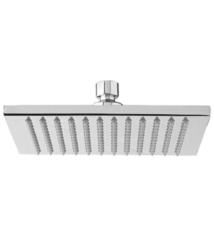 AQUABRASS ABSC00808 8 5/8 INCH WALL OR CEILING MOUNT SINGLE-FUNCTION SQUARE RAIN SHOWERHEAD