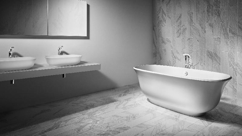 VICTORIA & ALBERT AMT-N AMIATA 64 3/4 INCH FREESTANDING SOAKER BATHTUB