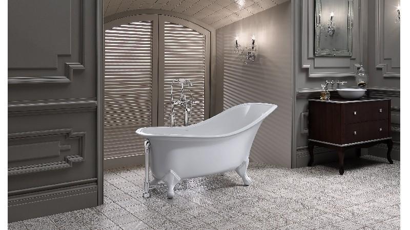 VICTORIA & ALBERT DRA-N-OF + FT-DRA DRAYTON 66 3/8 INCH FREESTANDING SOAKER BATHTUB WITH CLAWFOOT