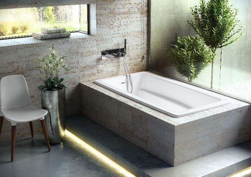 VICTORIA & ALBERT ROS-N-SW-IO ROSSENDALE 65 7/8 INCH DROP-IN OR UNDERMOUNT SOAKER BATHTUB - WHITE