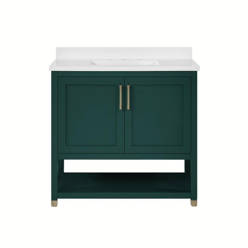 Legion Furniture Wt9309 36 Pg Pvc 36 Inch Pewter Green Bathroom Vanity Wt9309 36 Pg Pvc Wt930936pgpvc