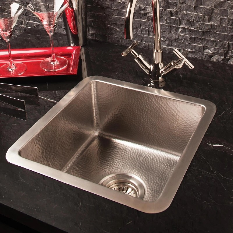 STONE FOREST CP-22 15 INCH STAINLESS BAR KITCHEN SINK