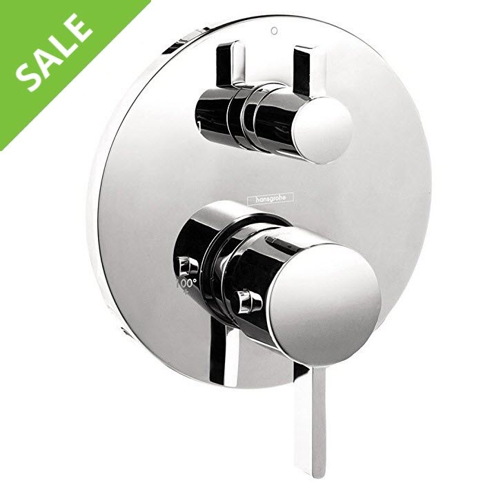 SALE! HANSGROHE 04231000 S THERMOSTATIC TRIM WITH VOLUME CONTROL AND DIVERTER IN CHROME