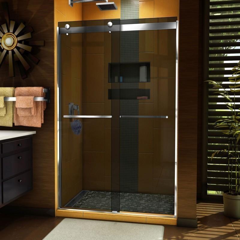 DREAMLINE SHDR-6348762G SAPPHIRE 44-48 W X 76 INCH SEMI-FRAMELESS BYPASS SHOWER DOOR