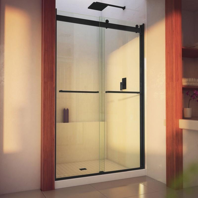 DREAMLINE SHDR-6348760H ESSENCE-INCH 44-48 W X 76 INCH SEMI-FRAMELESS BYPASS SHOWER DOOR