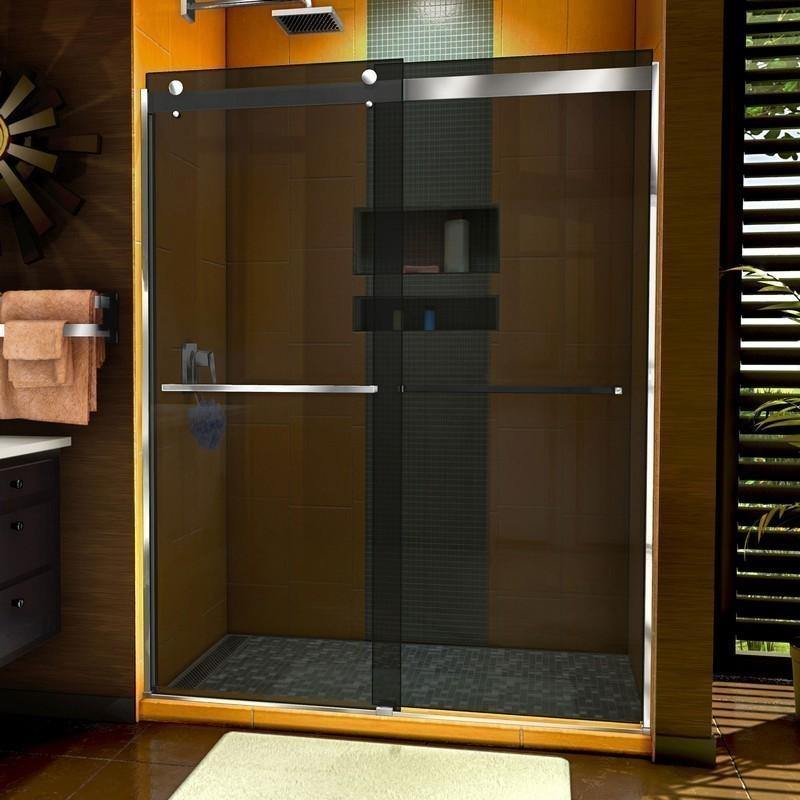 DREAMLINE SHDR-6360762G SAPPHIRE 56-60 W X 76 INCH SEMI-FRAMELESS BYPASS SHOWER DOOR