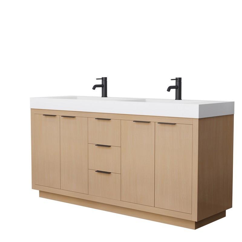 Wyndham Collection Wcv161672dcdcxsxxm24 Hatton 72 Inch Double Bathroom Vanity In Dark Chestnut No Countertop No