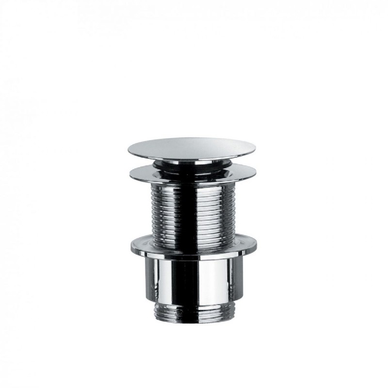 WS BATH COLLECTIONS WSBC 53995.29 3 1/8 INCH PUSH WASTE DRAIN WITHOUT OVERFLOW - POLISHED CHROME