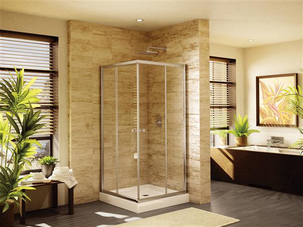 36 inch corner shower. Fleurco EAC36 Banyo 36 x Inch Amalfi Square Semi Frameless Corner Entry  Doors AWF36 Acrylic X 72 Shower Wall 13K 18K