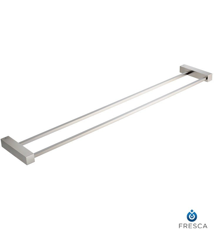 FRESCA FAC0440BN OTTIMO 25 INCH DOUBLE TOWEL BAR - BRUSHED NICKEL