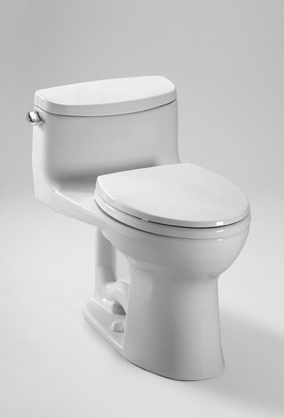 TOTO CST634CEFGT20#01 SUPREME II CONNECT+ ONE PIECE ELONGATED 1.28 GPF TOILET WITH DOUBLE CYCLONE FLUSH SYSTEM LESS SEAT