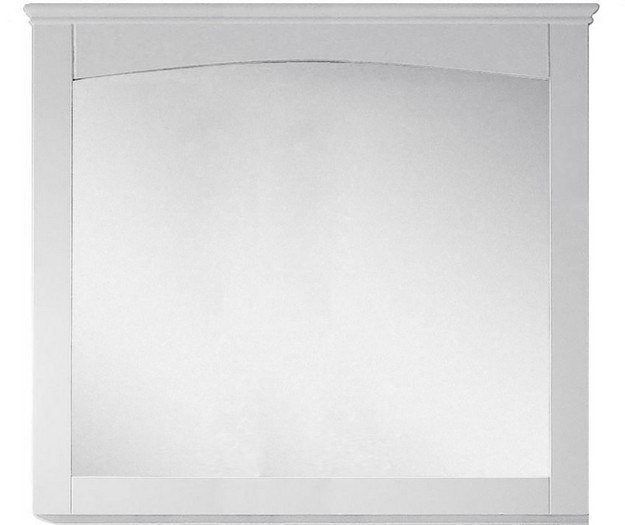 American Imagination AI-17427 Shaker 36 x 31.5 Inch Modern Plywood-Veneer Wood Mirror In White