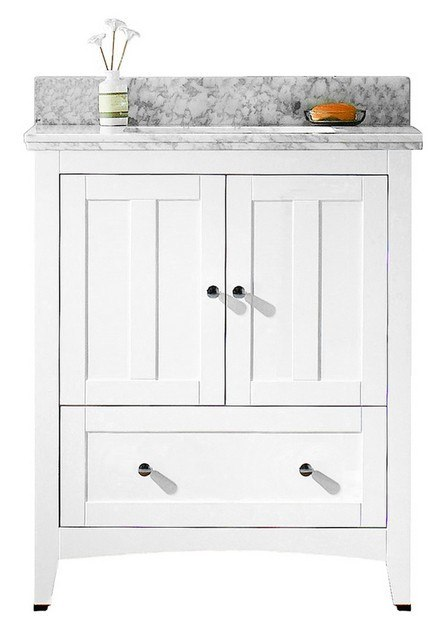 American Imaginations AI-17575 Shaker 29.5 W x 18 D Inch Vanity Set in White