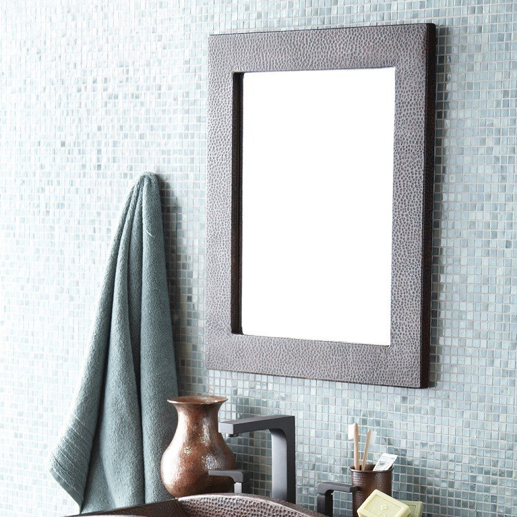Native Trails CPM62 Sedona 22 x 26 Inch Rectangle Hand Hammered Copper Mirror, Antique Finish