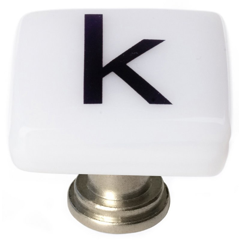 Sietto K-1110 New Vintage Letter K 1-1/4 Inch Square Cabinet Knob