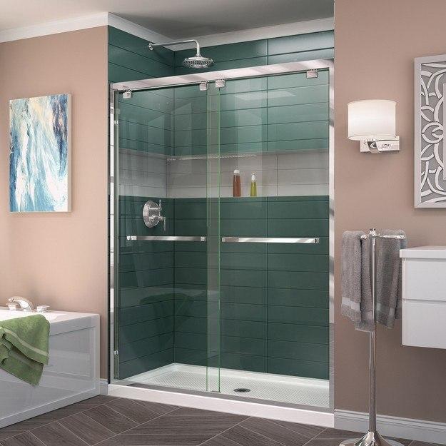 DREAMLINE SHDR-1660760 ENCORE 56-60 W X 76 H FRAMELESS BYPASS SLIDING SHOWER DOOR