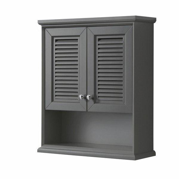 Wyndham Collection Wcs2121wckg Tamara Wall Mounted Storage Cabinet In Dark Gray