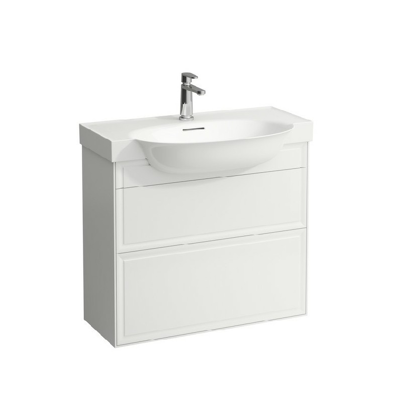 LAUFEN H4060420851 THE NEW CLASSIC 30 1/2 INCH VANITY UNIT WITH TWO DRAWER AND WASHBASIN