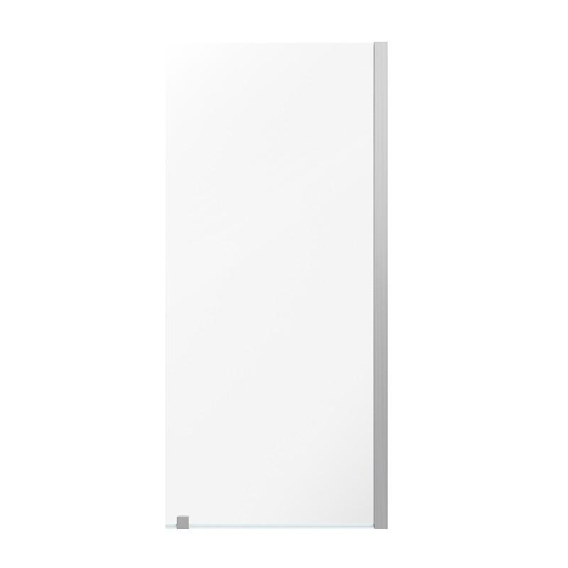 OVE DECORS AU0700300 ENDLESS AUSTIN 34 3/8 INCH ALCOVE FRAMELESS FIXED PANEL SHOWER DOOR - SATIN NICKEL