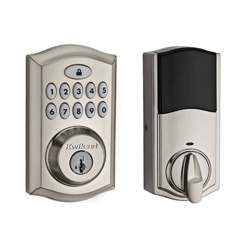 KWIKSET 913S SINGLE CYLINDER TOUCHPAD ELECTRONIC DEADBOLT FROM THE SMARTCODE SERIES