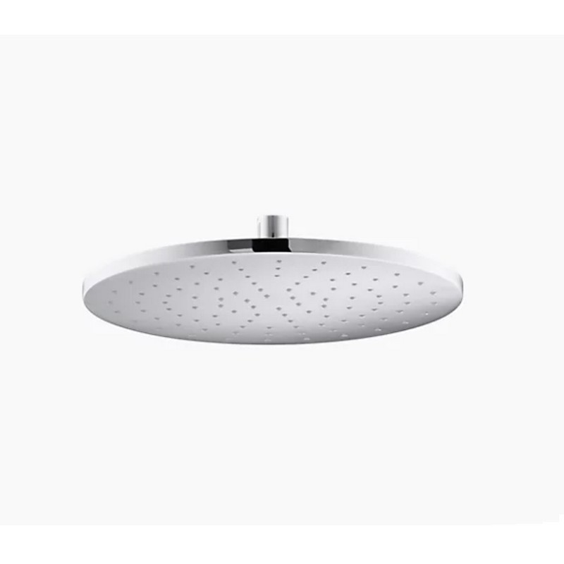 KOHLER K-13690 CONTEMPORARY 12 INCH SINGLE FUNCTION RAIN SHOWERHEAD WITH KATALYST AIR-INDUCTION TECHNOLOGY, 2.5 GPM