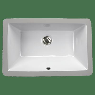 Nantucket Sinks UM-19x11 Great Point Collection 19 x 11 Inch Rectangle Undermount Ceramic Sink