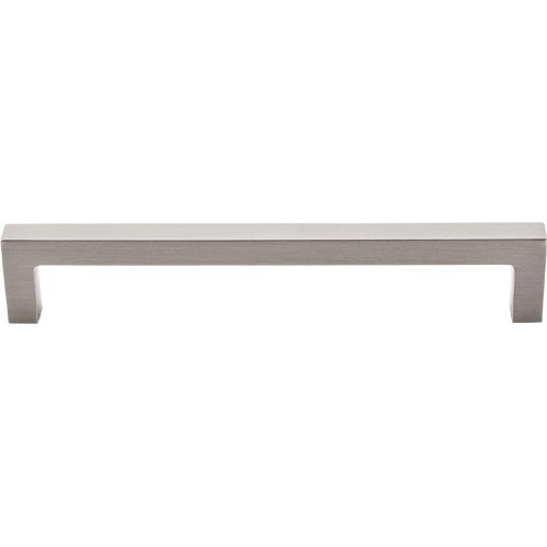Top Knobs M1155 BSN Asbury Square Bar Pull 6-5/16 Inch Center to Center Brushed Satin Nickel