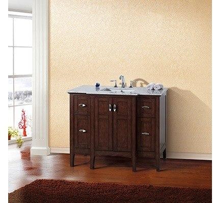 Bellaterra Home 7614 Sw 44 Inch Single, 44 Bathroom Vanity Cabinet