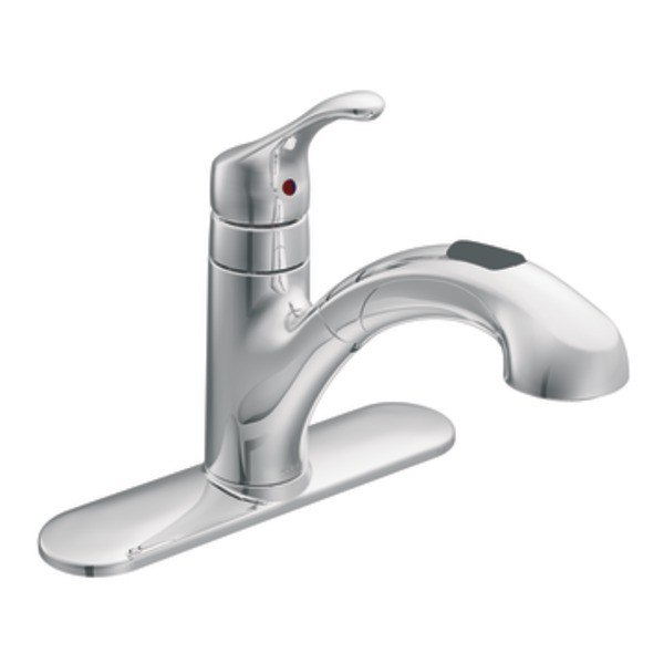 MOEN CA87316 RENZO ONE HANDLE LOW ARC PULLOUT KITCHEN FAUCET
