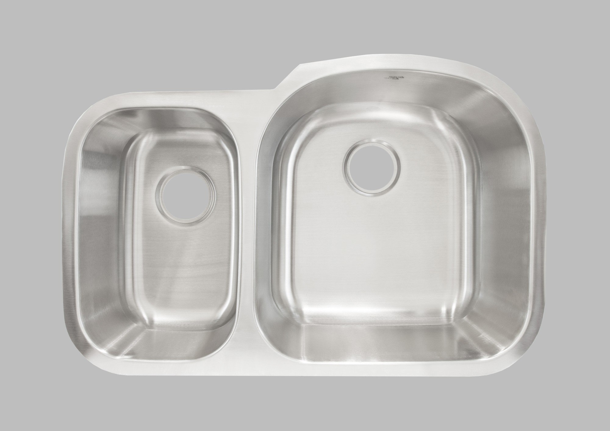 LESS CARE L201L 31INCH UNDERMOUNT DOUBLE BOWL KITCHEN SINK