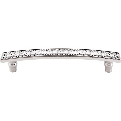 Top Knobs TK176PN Trevi Trevi Pull 5 Inch Center to Center Polished Nickel