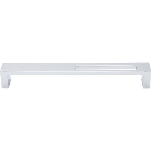 Top Knobs TK267PC Sanctuary II Modern Metro Slot Pull 7 Inch Center to Center Polished Chrome