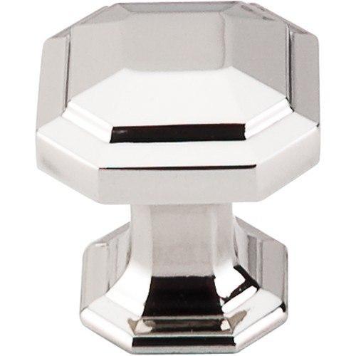 Top Knobs TK286PN Chareau Emerald Knob 1-1/8 Inch Polished Nickel