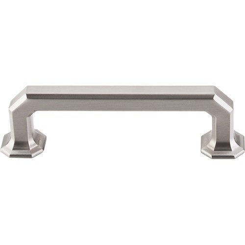 Top Knobs TK287BSN Chareau Emerald Pull 3-3/4 Inch Center to Center Brushed Satin Nickel