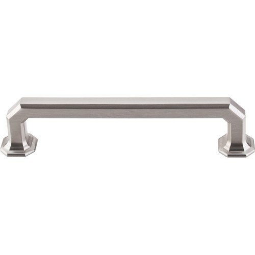 Top Knobs TK288BSN Chareau Emerald Pull 5 Inch Center to Center Brushed Satin Nickel