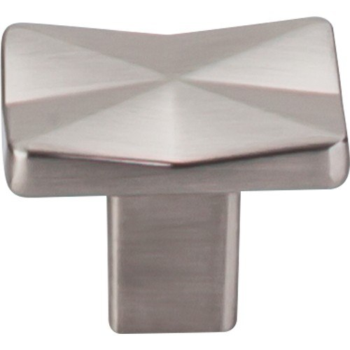 Top Knobs TK560BSN Mercer Quilted Knob 1-1/4 Inch Brushed Satin Nickel