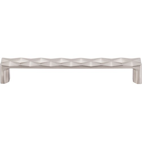 Top Knobs TK563BSN Mercer Quilted Pull 6-5/16 Inch Center to Center Brushed Satin Nickel