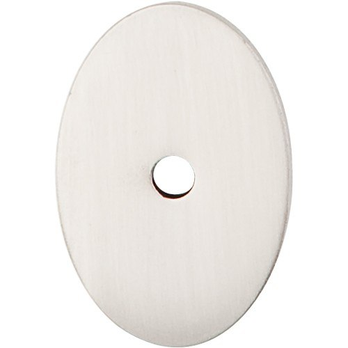 Top Knobs TK60BSN Sanctuary Oval Backplate Medium 1-1/2 Inch Brushed Satin Nickel