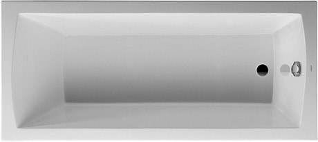 DURAVIT 700027000000090 DARO 66-7/8 X 29-1/2 INCH RECTANGLE BASE BATHTUB, BUILT-IN, WITH ONE BACKREST SLOPE