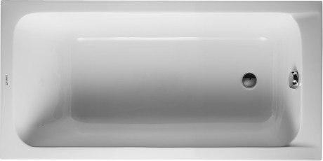 Duravit 700095 D-Code 59 x 29-1/2 Inch Oval Base Bathtub, Built-in