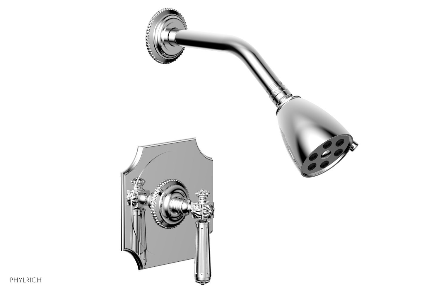 PHYLRICH 162-22 MARVELLE WALL MOUNT PRESSURE BALANCE SHOWER SET WITH LEVER HANDLE
