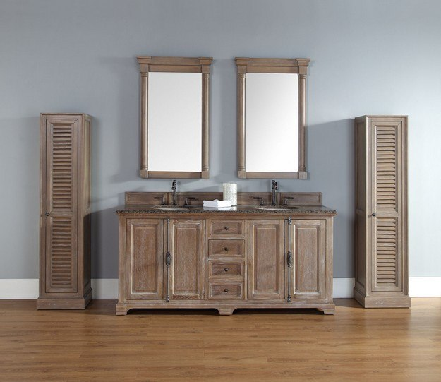 James Martin 238 105 5711 Providence 72 Inch Double Vanity Cabinet,  Driftwood