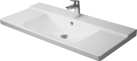 Duravit 233210 P3 Comforts 41-3/8 x 19-5/8 Inch Furniture Washbasin with Overflow and Tap Platform in White